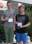Felix Teichert (links) und Luca Esfehanian (rechts) werden Erster und Zweiter